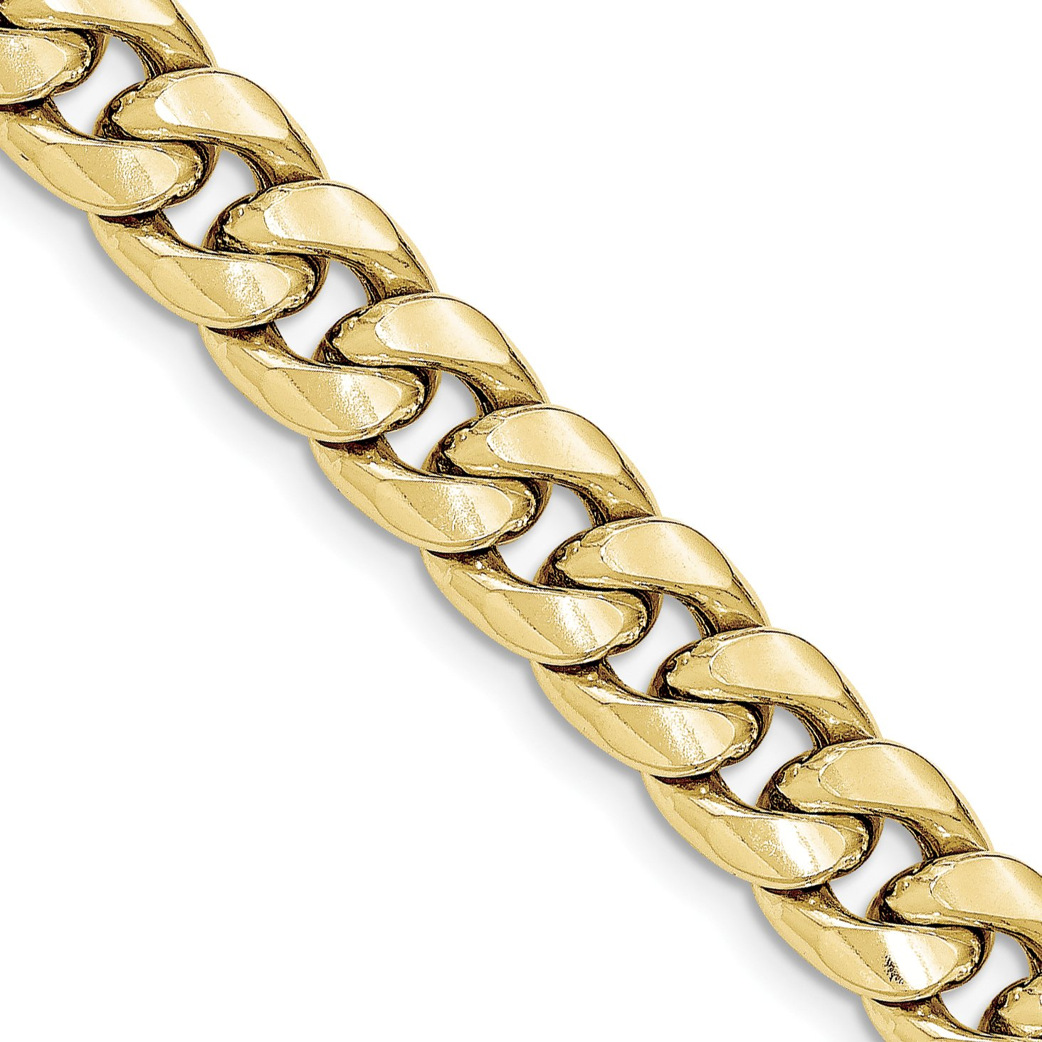 ICE CARATS 14k Yellow Gold 11mm Miami Cuban Bracelet Chain 8 Inch Curb Fine Jewelry Gift Set For Women Heart