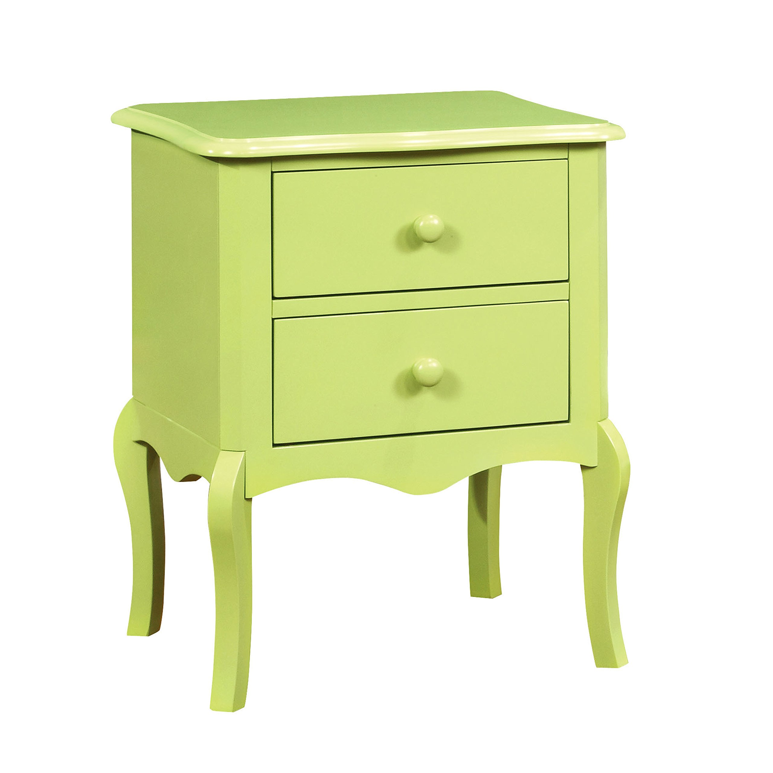 HOMES: Inside + Out IDF-AC325AG Edna Nightstand Childrens, Apple Green