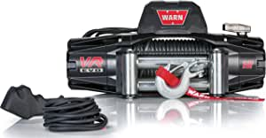 """WARN 103254 VR EVO 12 Electric 12V DC Winch with Steel Cable Wire Rope: 3/8"""" Diameter x 85' Length, 6 Ton (12,000 lb) Pulling Capacity"""