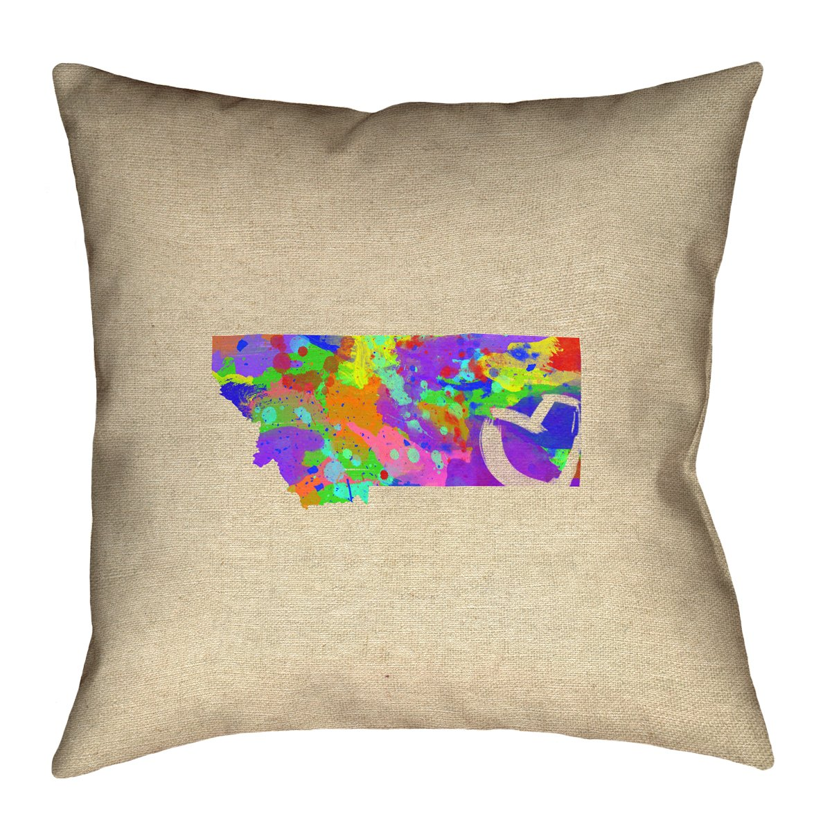 Double Sided Print with Concealed Zipper /& Insert Updated Fabric ArtVerse Katelyn Smith Montana Love Watercolor 20 x 20 Pillow-Faux Linen