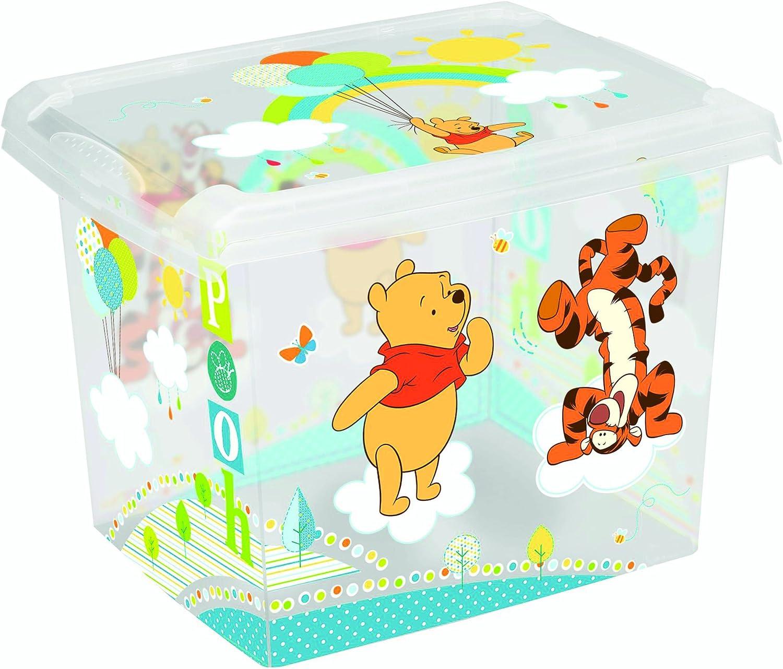 Juego de 2 Fashion Box Disney Winnie The Pooh 20L + 10L Caja Caja para juguetes: Amazon.es: Bebé