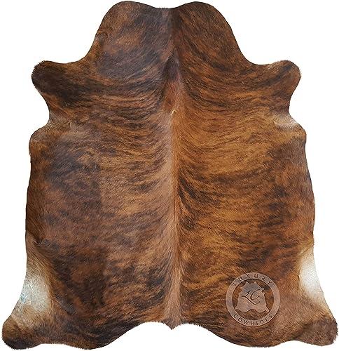 Brindle Cowhide Rug 5 – 5.5 x 6 -6.5 160cm x 200cm