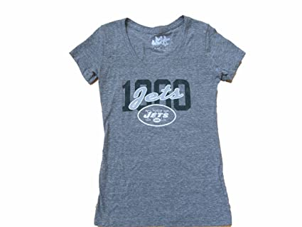 7a53be6d9 Amazon.com   N J Jets T-shirts Womens Grey   Sports   Outdoors