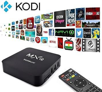 Tonbux ® Android 4.4 TV Box MXQ Inteligente TV BOX Quad Core 1.5 GHz XBMC CPU Amlogic S805 1GB/8GB: Amazon.es: Electrónica