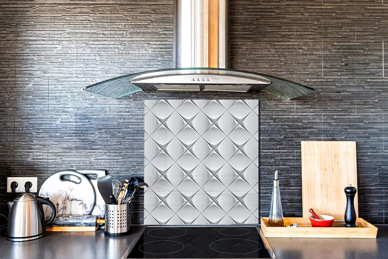 Vidrio Templado De Cocina Negro Textura De Piedra De Protección Salpicaduras