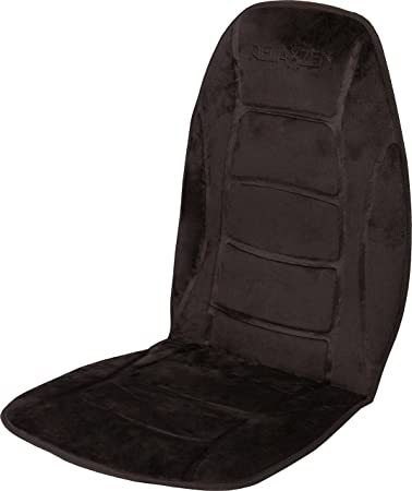 Relaxzen Deluxe Heated Car Seat Cushion with Built-In Thermostat and Auto Shut-Off Gray 60-2802H04