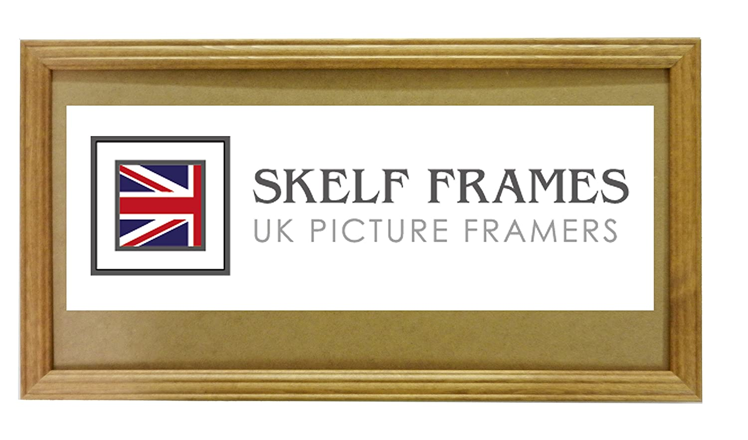 SKELF FRAMES  HONEY PINE WOOD PANORAMIC PICTURE PHOTO POSTER FRAME with GLASS
