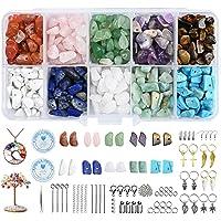 YMHPRIDE Edelstenen Kristallen Sieraden Kralen Set van natuurlijke onregelmatige chipskralen, 600 + Stks,10 Kleuren en…