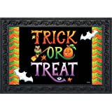 """Briarwood Lane Halloween Trick or Treat Doormat Holiday Indoor Outdoor 18"""" x 30"""""""