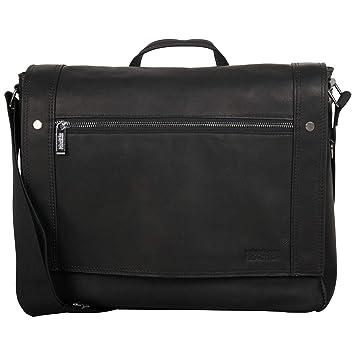 Amazon.com   Kenneth Cole Reaction Colombian Leather Single Compartment  Flapover Messenger Bag, Black   Messenger Bags 43f8abc385