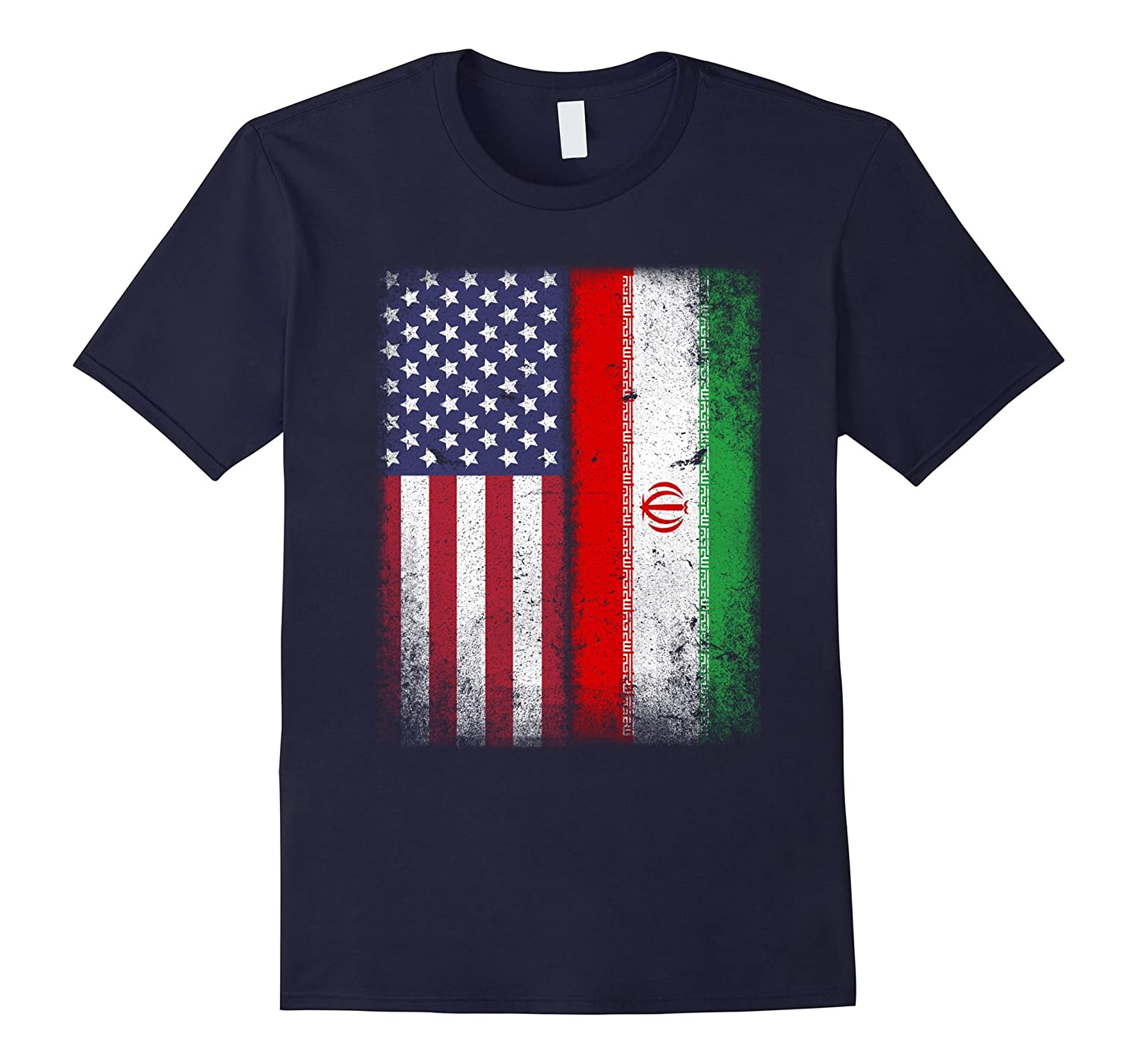 American Iranian Flag T-shirt Iran Heritage National Pride-TH