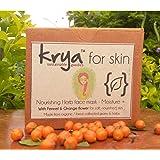 Krya Moisture plus herbal facial mask : nourishes skin, improves elasticity & skin health. Made with 22 rich Ayurvedic, skin healing herbs – All Natural 100 gm