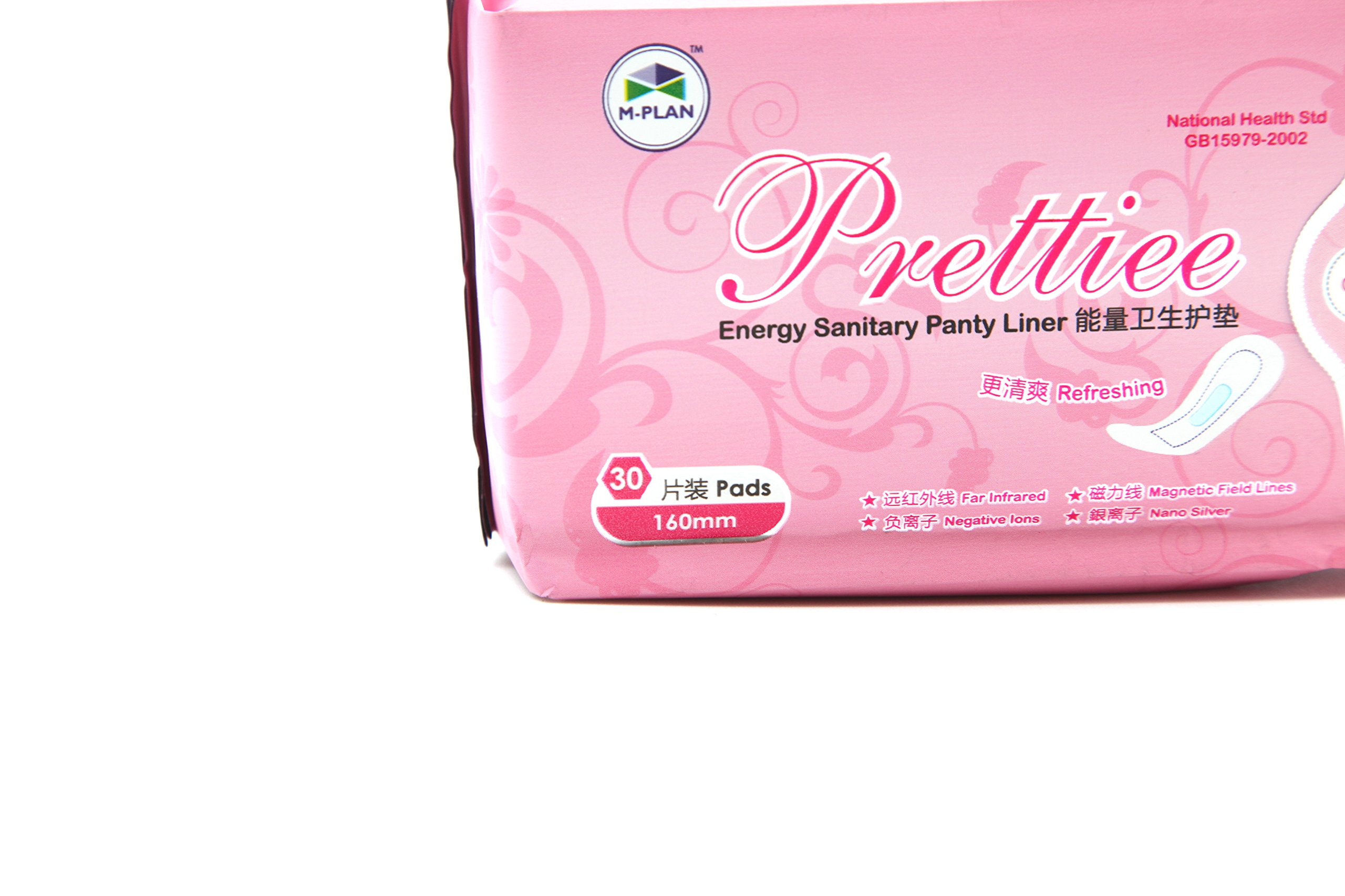 10 packs Prettiee Energy Sanitary Panty liner 160mm ( 30 Pads ) by Prettiee (Image #4)
