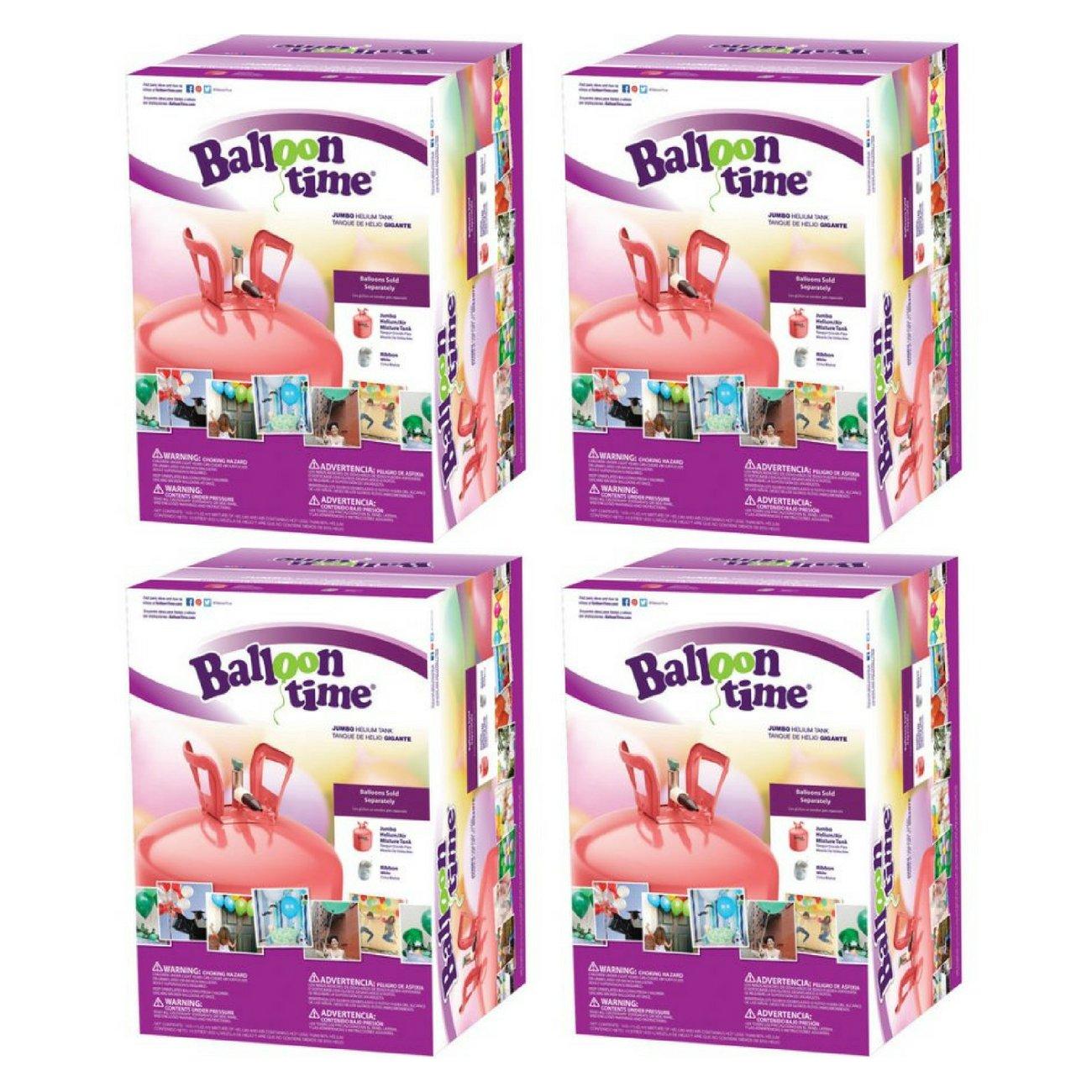 Balloon Time Jumbo 12'' Helium Tank Blend Kit (4 Boxes)