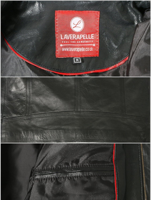 Laverapelle Mens Black Genuine Lambskin Leather Jacket 1710048