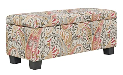 Astounding Amazon Com 40 Coral Hand Brushed Style Floral Paisley Short Links Chair Design For Home Short Linksinfo