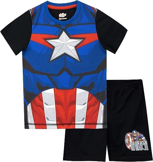 Marvel Maglietta Maniche Corta per Ragazzi Captain America