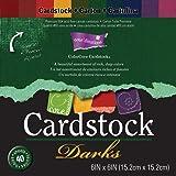 "Core'dinations Core Essentials Cardstock Pad 6""X6"" 40/Pkg-Darks"