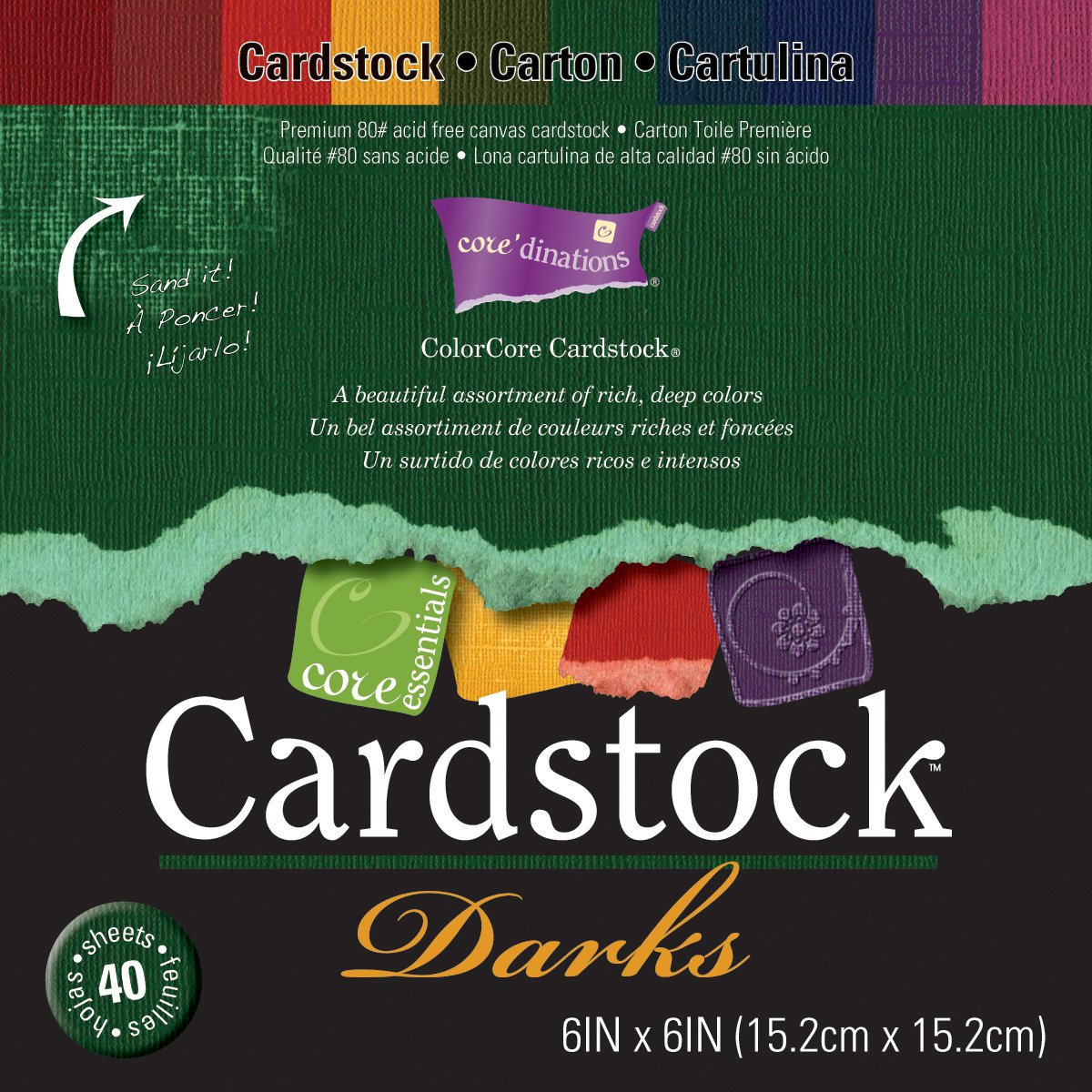 Darice Gx-3000-11 30-Pack Core'dinations Core Cardstock Paper Sheets, Pastels, 4-1/4x5-1/2-Inch