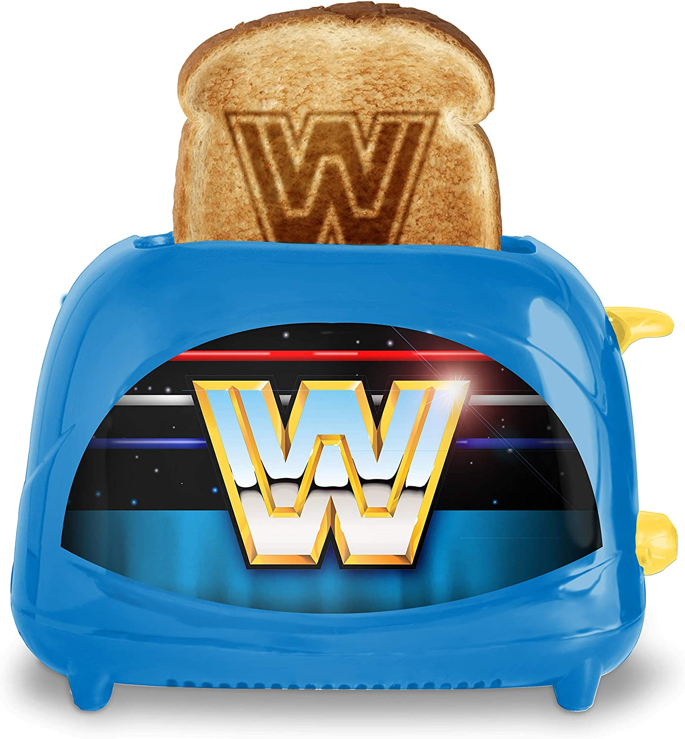 Uncanny Brands WWE Retro Log 2-Slice Toaster- Toasts World Wrestling Logo onto Your Toast