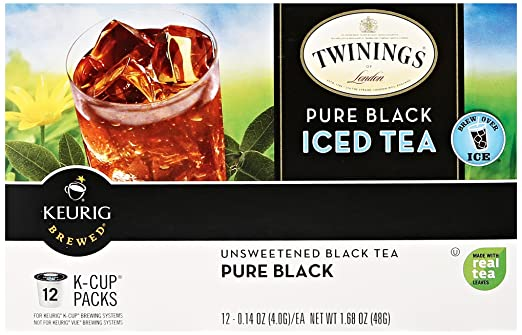 Twinings of London Pure Black Iced Tea K-Cups for Keurig, 12 Count
