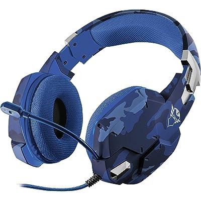 Trust Gaming GXT 322B Carus Auriculares Gaming con Microfono para PS4 - Azul