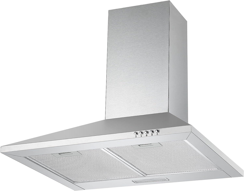 Unbranded ch600ss 60 cm chimenea Campana en acero inoxidable con filtros: Amazon.es: Grandes electrodomésticos