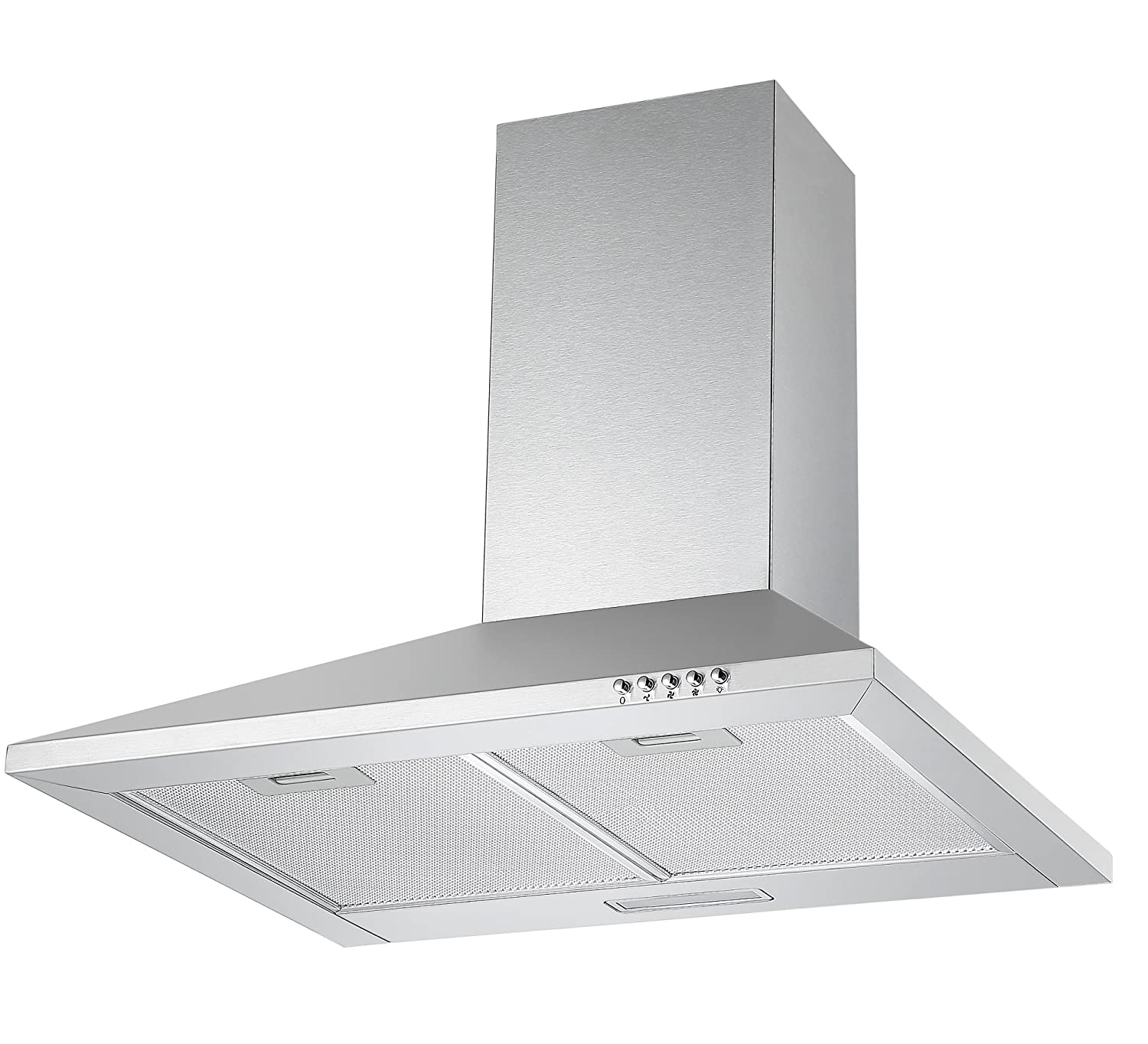 Cookology Unbranded CH600SS 60cm Chimney Cooker Hood in Stainless Steel | Extractor Fan [Energy Class C]