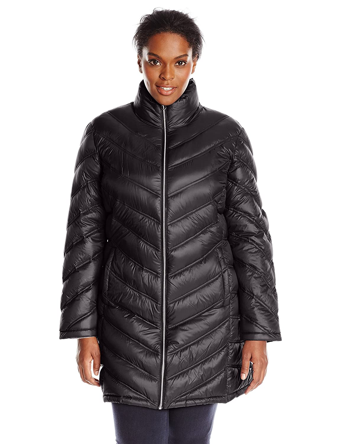 Calvin Klein Women's Plus-Size Packable Down Coat at Amazon