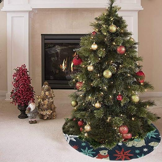 Falda de árbol de navidad Artoon Animado Animal lindo Oso polar ...