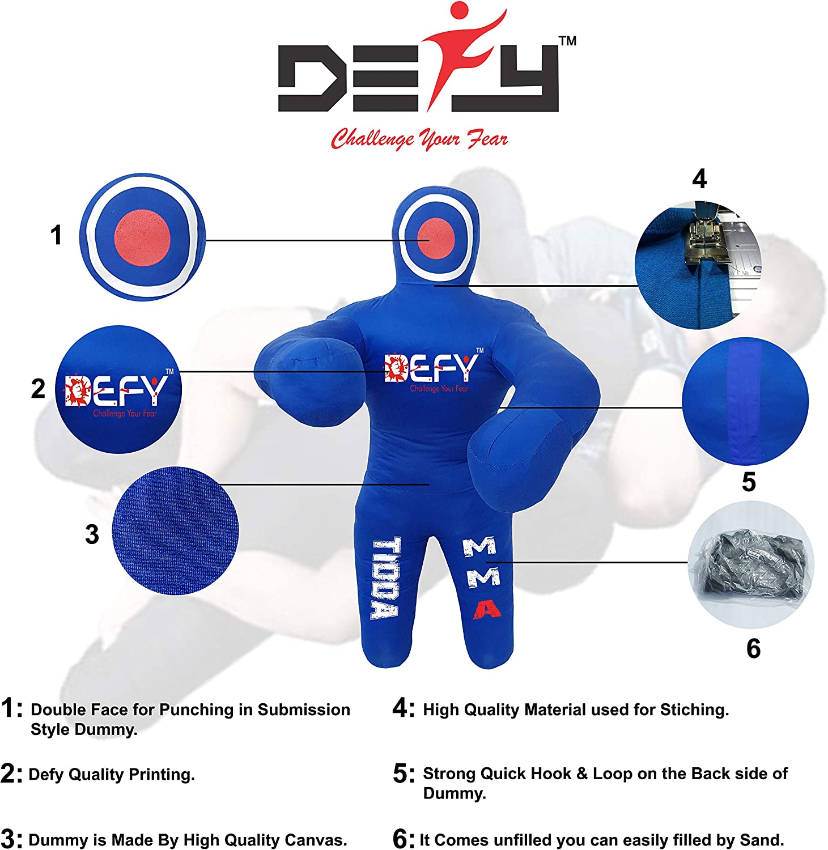 DEFY Tidda Model Brazilian Jiu Jitsu 100cm Kids Version Grappling Dummy Thick Grade Canvas MMA Wrestling Judo Dummy Bag Dummy Punching Kick Boxing Dummy Best /& Guaranteed Quality