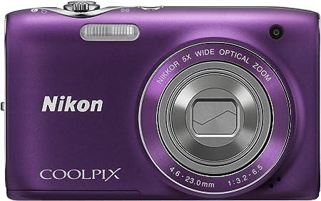 Nikon Coolpix S3100 Digitalkamera 2 7 Zoll Violett Kamera