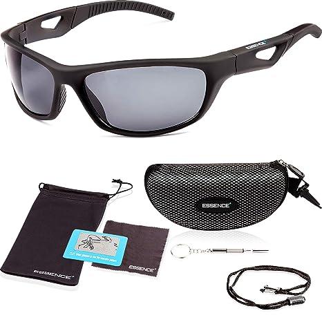 essence Gafas de ciclismo , UV400, protección para los ojos, polarizadas, para hombres y mujeres, también para conducción diurna y nocturna, todos ...