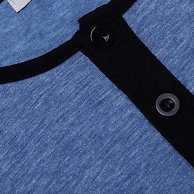 4c7541d429 Elesoi Herren Comfort Henley Kurzarm Nachthemd Patchwork Schlafhemd  Nachtwäsche Schlafanzüge: Amazon.de: Bekleidung
