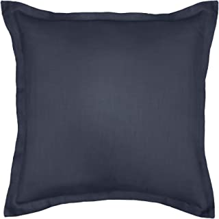 product image for Veratex Gotham Collection Contemporary Style Soft 100% Linen Bedroom Euro Sham Throw Pillow, Dark Teal