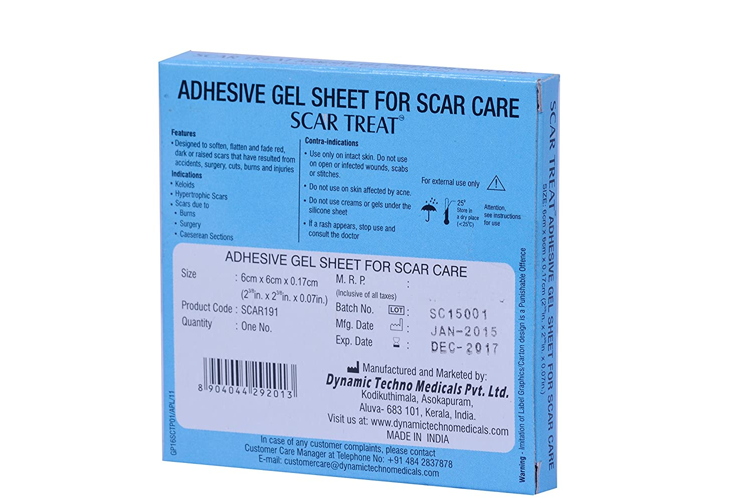 Buy Scar Treat Adhesive Gel Sheet For Scars 6x6 Cm Online At Low