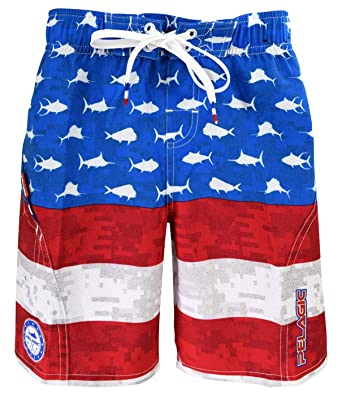 3677a1df41 Image Unavailable. Image not available for. Color: Pelagic Little Boys' Sharkskin  Americamo Boardshort ...