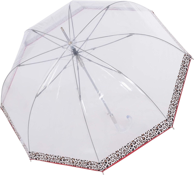 Parapluie Doppler Long Fiber Lang Automatique Transparent Automatique voilure Stable Leo