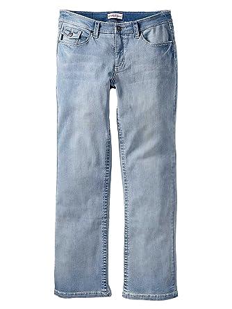 0a0544dc770c Sheego Weite Jeans Damen Stretch Hose Used Look Plusgröße Kurzgröße  Langgröße  Amazon.de  Bekleidung