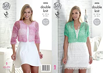 2e18149fb Image Unavailable. Image not available for. Color  King Cole Ladies Double Knitting  Pattern Womens Easy Lace Pattern Cropped Cardigans ...