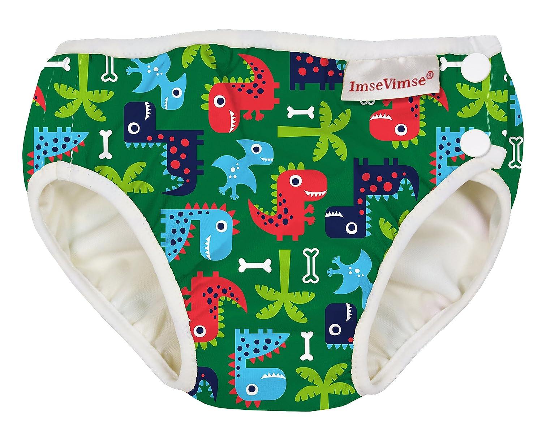 ImseVimse Swim Nappy Bathing Nappy Water Nappy Baby Swimming Trunks Green Dino