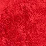 Crushed Panne Velour Red Fabric By The Yard