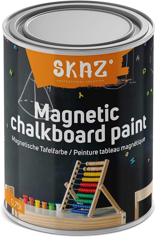 Pintura magnética 2 en 1 para interiores. Color negro pizarra, hipoalergénica, perfecta para la habitación de los niños: Amazon.es: Bricolaje y herramientas