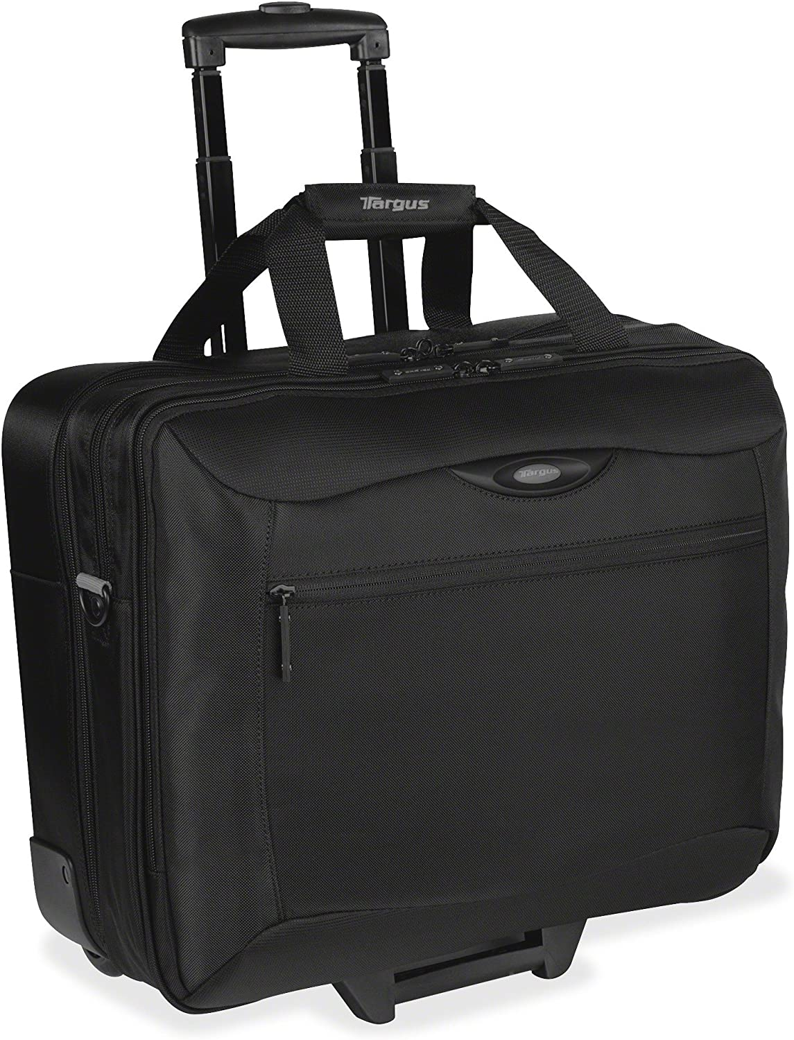 Targus TCG717 CityGear Rolling Travel Laptop Case, Nylon, 18 x 10 x 15, Black/Silver