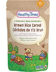 Healthy Times Organic Whole Grain Baby Cereal, Brown Rice | Baby Food for Babies 4 Months & Older | 142 g Bag, 1 Count