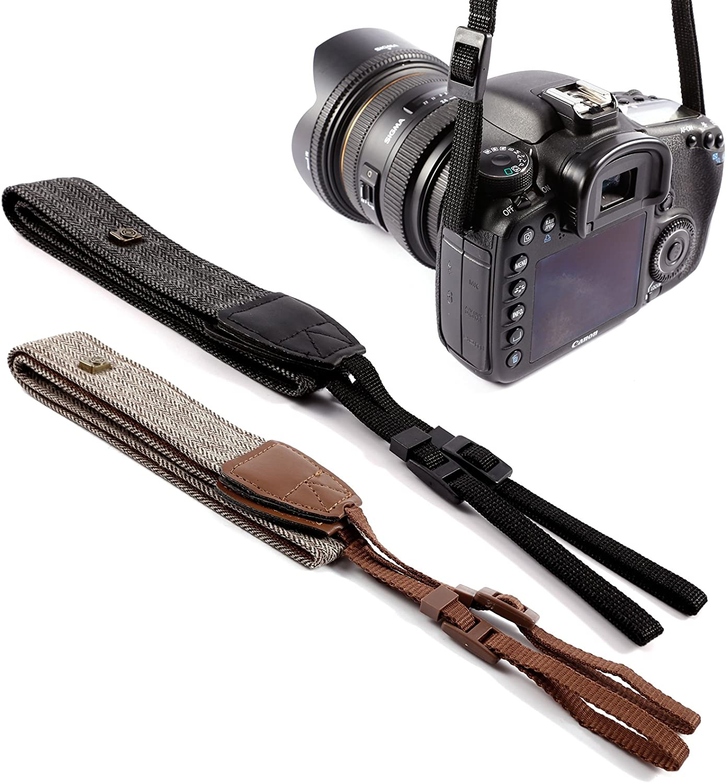 Hamimelon Camera Shoulder Neck Vintage Strap Belt for Sony Nikon Canon Olympus DSLR Brown