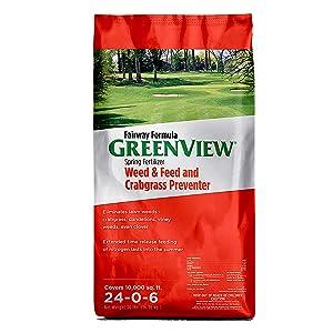 GreenView 2129268 Fairway Formula Spring Fertilizer Weed & Feed