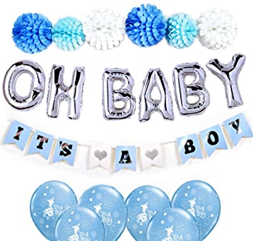 amazon com gogoshel baby shower decorations for boy oh baby