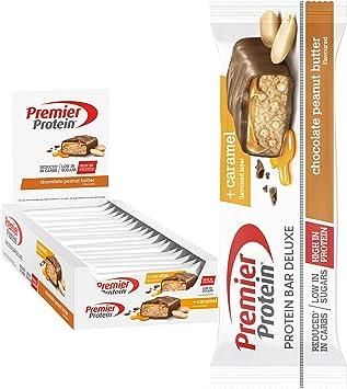 Premier Protein Bar Deluxe Chocolate Peanut Butter 18x50g - Alta Proteína Baja Azúcar + Carbohidratos reducidos