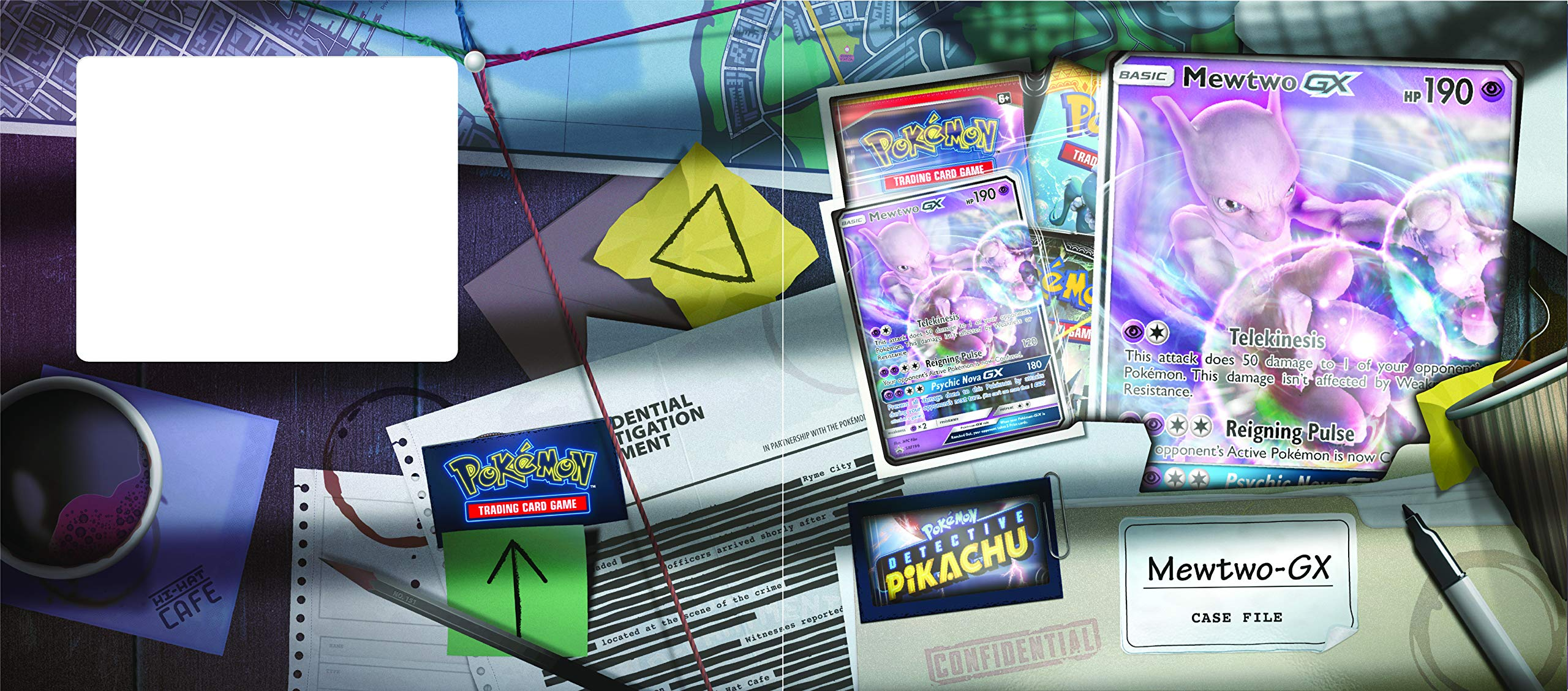 Pokemon TCG: Detective Pikachu Mewtwo-Gx Case File + 6 Booster Pack + A Foil Promo Gx Card + A Oversize Gx Foil Card by Pokemon Cards (Image #2)